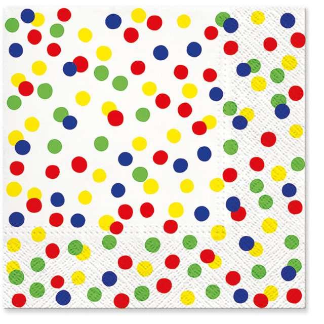 """Serwetki """"Kolorowe kropki"""", PAW, 33 cm, 20 szt"""