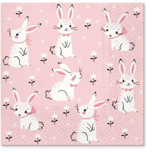 """Serwetki """"Wielkanoc - pole królików"""", PAW, 33 cm, 20 szt"""