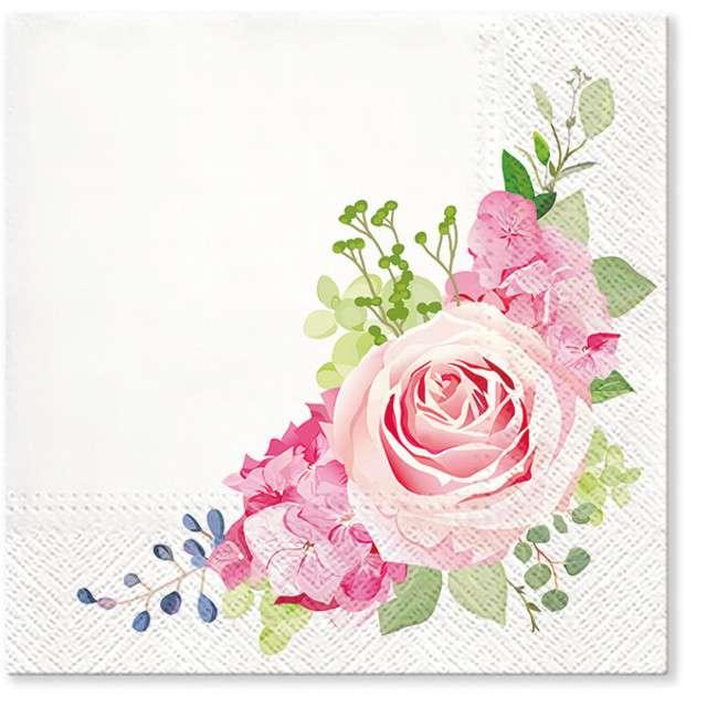 """Serwetki """"Nostalgiczna róża"""", PAW, 33 cm, 20 szt"""