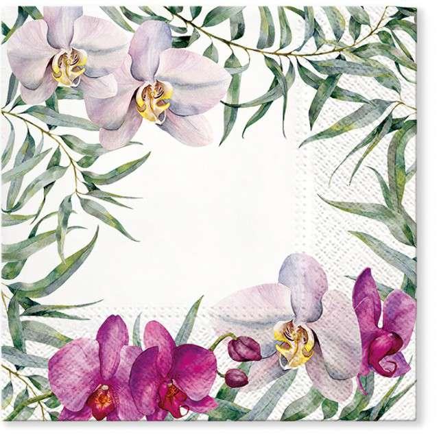 "Serwetki ""Kwitnąca orchidea"", PAW, 33 cm, 20 szt"