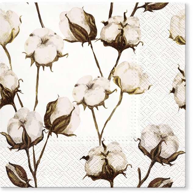 """Serwetki """"Kwiat bawełny"""", PAW, 33 cm, 20 szt"""