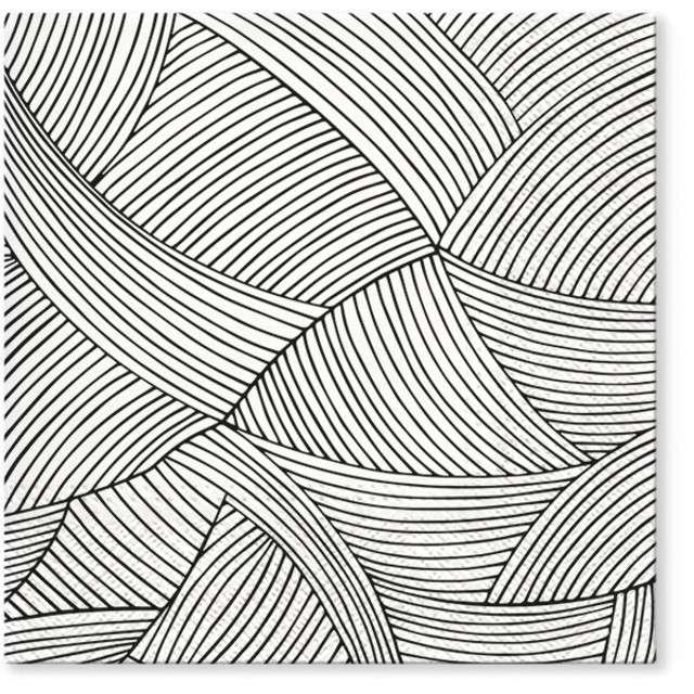 """Serwetki """"Geometryczna plecionka"""", PAW, 33 cm, 20 szt"""