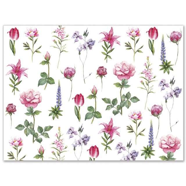 """Papierowa podkładka """"Kwiaty"""", PAW, 40x29, 24 szt."""