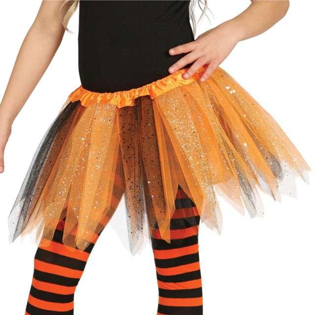 """Spódniczka tutu """"Classic shine"""", pomarańczowo-czarna, Guirca, 31 cm"""