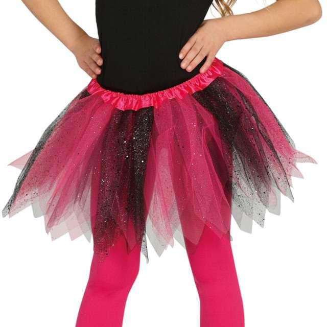 """Spódniczka tutu """"Classic shine"""", różowo-czarna, Guirca, 31 cm"""