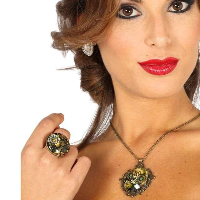 """Zestaw biżuterii """"Steampunk"""", Guirca"""