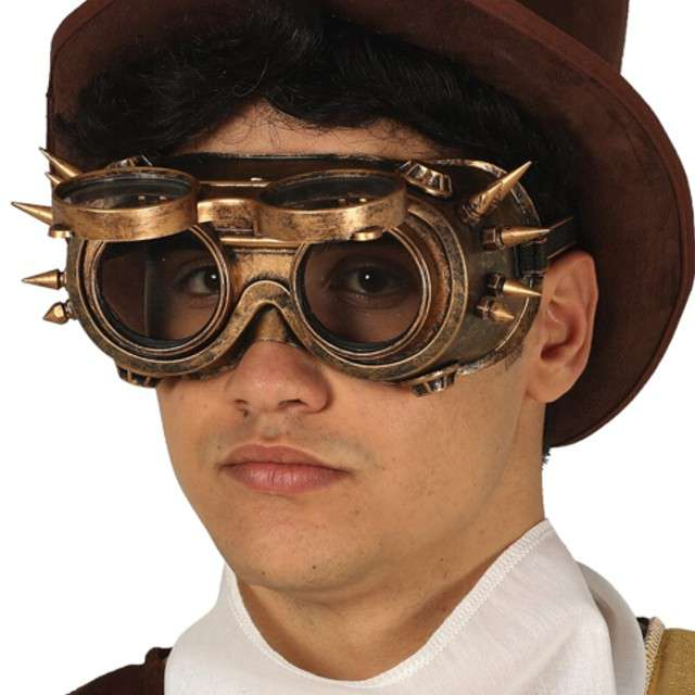 "Okulary party ""Steampunk z kolcami"", Guirca"