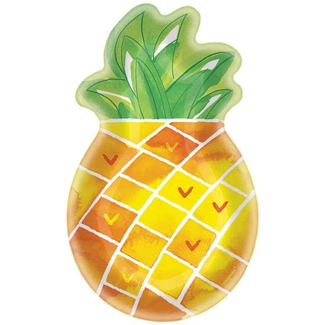"""Talerzyki papierowe """"Ananas - Hawajskie Party"""", Amscan"""