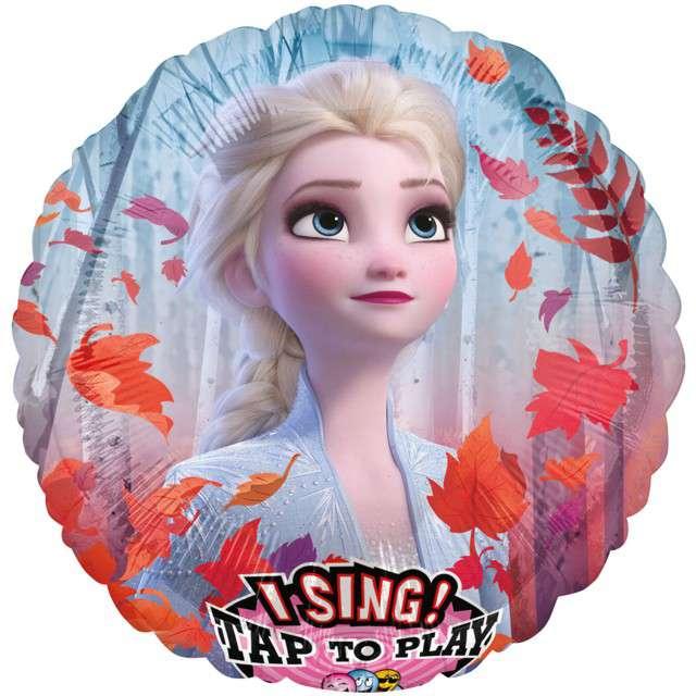 """Balon """"Kraina Lodu - Elsa"""", grający, Amscan, 28"""" RND"""