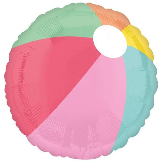"Balon foliowy ""Piłka plażowa"", Amscan, 17"", RND"