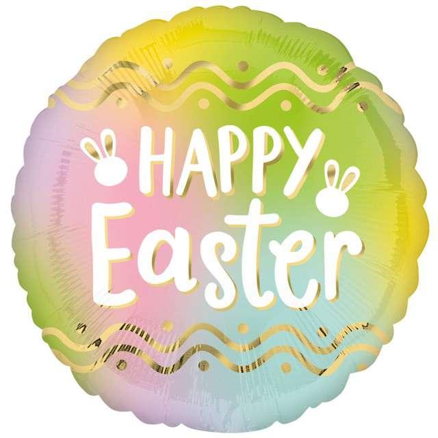 """Balon foliowy """"Happy Easter - Wielkanoc"""", Amscan, 17"""", SHP"""
