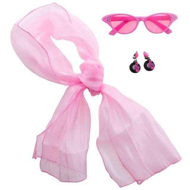 """Zestaw """"Retro"""", różowy, Funny Fashion, 3 szt."""