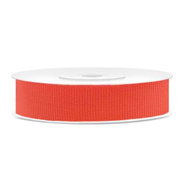 Tasiemka rypsowa, czerwona neonowa, 15mm/25m