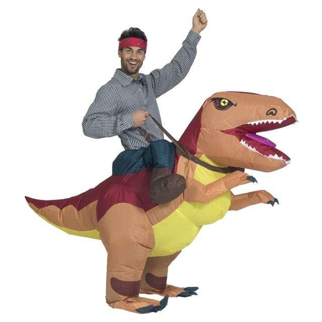 "Strój dla dorosłych ""T-Rex"", Funny Fashion, nadmuchiwany, rozm. uniwer."