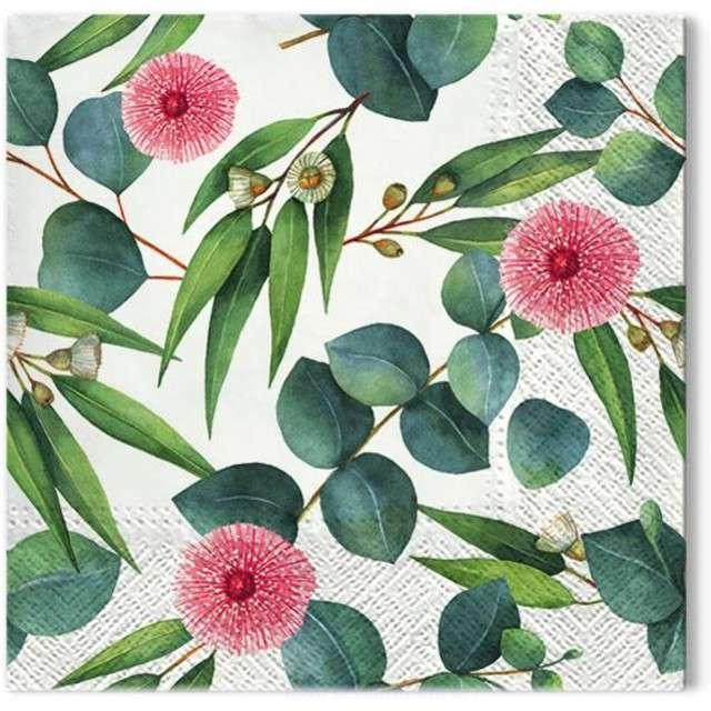 """Serwetki """"Liście eukaliptusa"""", PAW, 33 cm, 20 szt"""