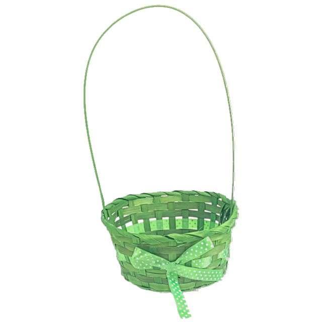 """_xx_Koszyczek wielkanocny """"Ze Wstążką"""", zielony, Arpex, 19x35 cm"""