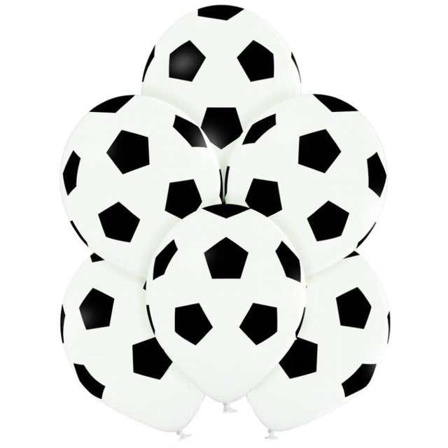 "Balony ""Piłka Nożna"", białe, Belbal, 12"", 6 szt"