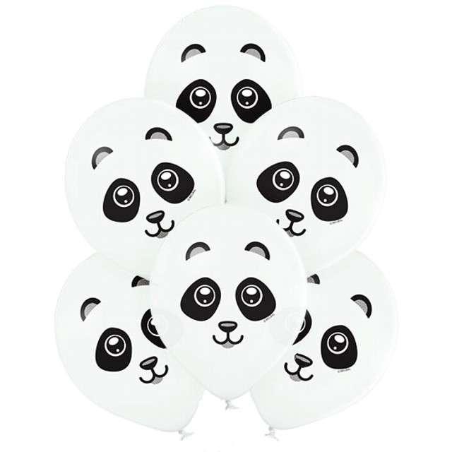 "Balony ""Panda"", białe, Belbal, 12"", 6 szt"