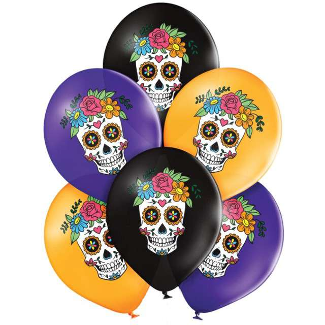 "Balony ""Day of the Dead"", mix, Belbal, 12"", 6 szt"