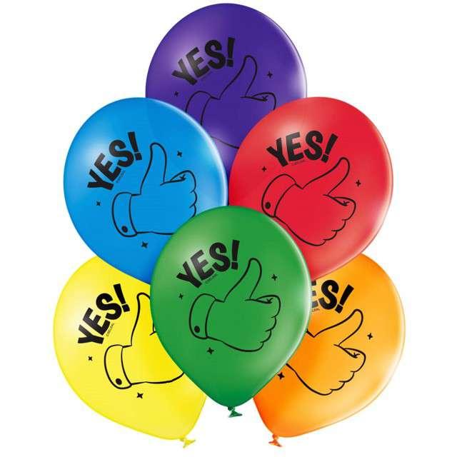 """Balony """"Kciuki do góry - Okejka"""", mix, Belbal, 12"""", 6 szt"""