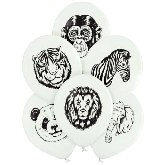 """Balony """"Dzikie zwierzęta"""", Belbal, 12"""", 6 szt"""