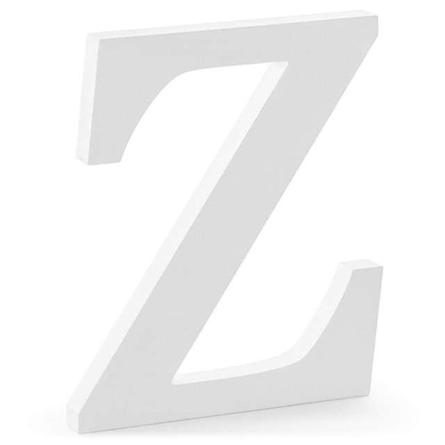 """Litera drewniana """"Z"""", biała, Partydeco"""