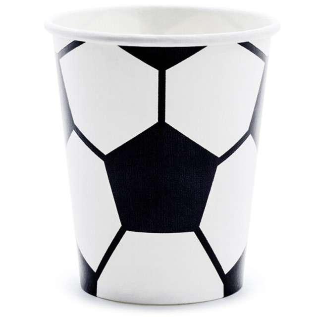 """Kubeczki papierowe """"Piłka Nożna"""", Parytydeco, 220 ml, 6 szt"""