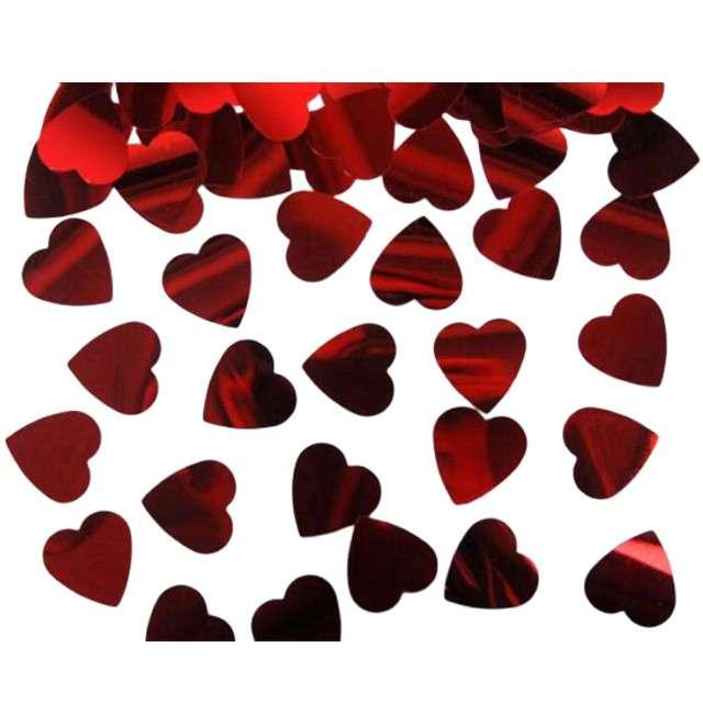 Konfetti czerwone serca, 25 mm, 10 g, 1 op.