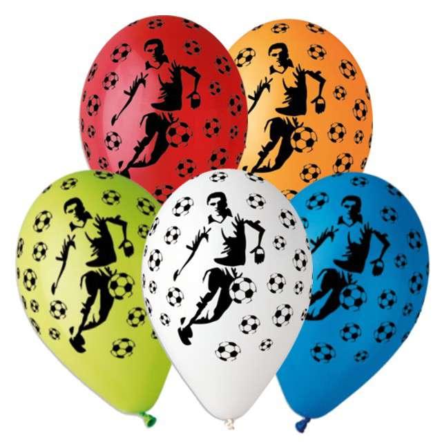 """Balony 12"""", """"Piłkarze"""", GEMAR, MIX, 5 szt"""