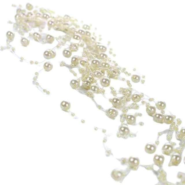 Girlandy perłowe, kremowy, 1,3m, 1op.
