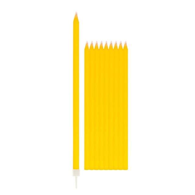 """Świeczki na tort """"Classic"""", żółte, Givi, 15,5 cm"""
