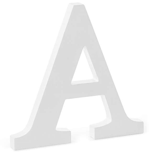 """Litera drewniana """"A"""", biała, Partydeco"""