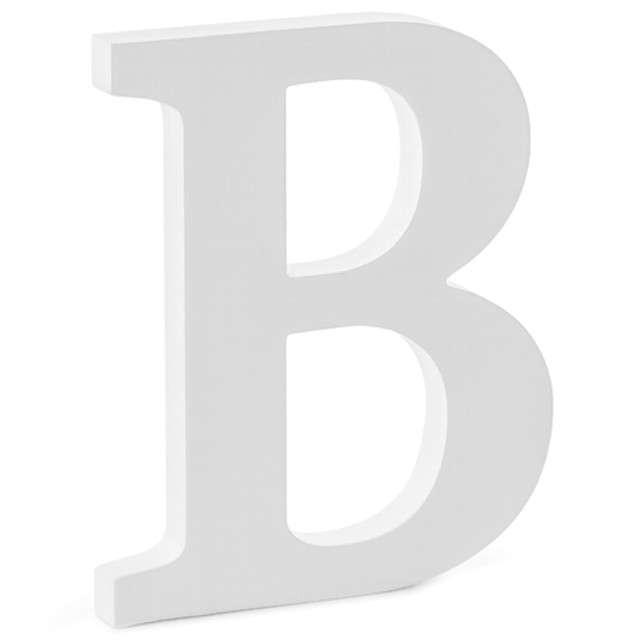 """Litera drewniana """"B"""", biała, Partydeco"""