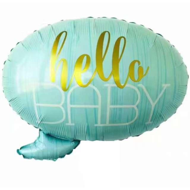 """Balon foliowy """"Hello Baby"""", niebieski, Jix, 60x55 cm, SHP"""