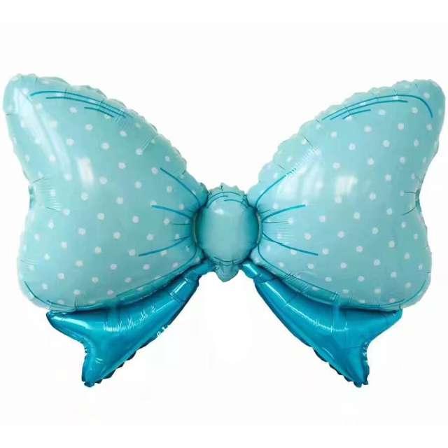 """Balon foliowy """"Kokarda - Baby Shower"""", niebieska, Jix, 90x60 cm, SHP"""