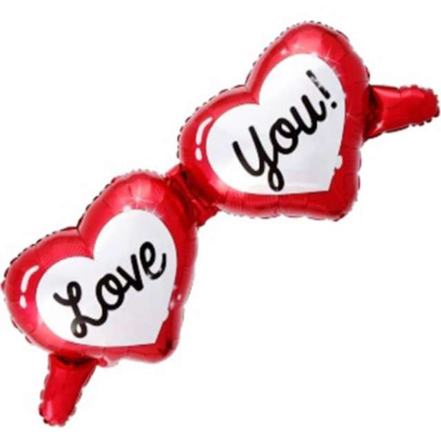 """Balon foliowy """"Okulary Walentynkowe - Love You"""", Jix, 98x49 cm, SHP"""
