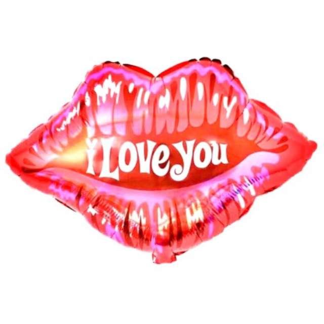 "Balon foliowy ""Usta - I Love You"", Jix, 58 cm, SHP"
