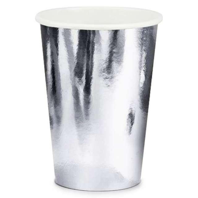 """Kubeczki papierowe """"Shiny Premium"""", srebrny,  Jix, 9 cm, 6 szt"""