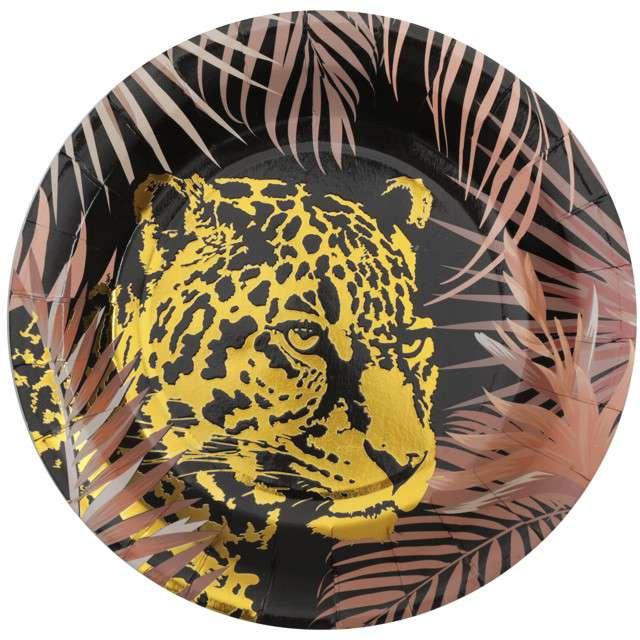 """Talerzyki """"Lampart w dżungli"""", Santex, 22.5cm, 10 szt"""