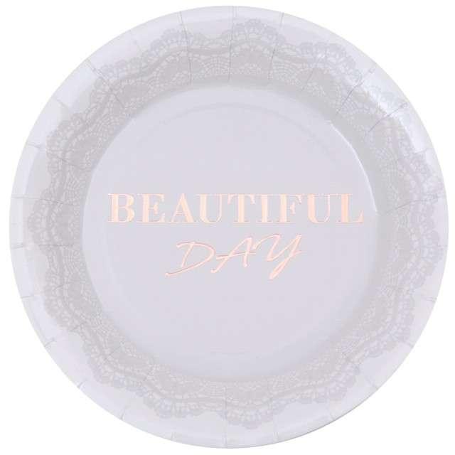 """Talerzyki papierowe """"Beautiful Day"""", Santex, 22.5 cm, 10 szt"""