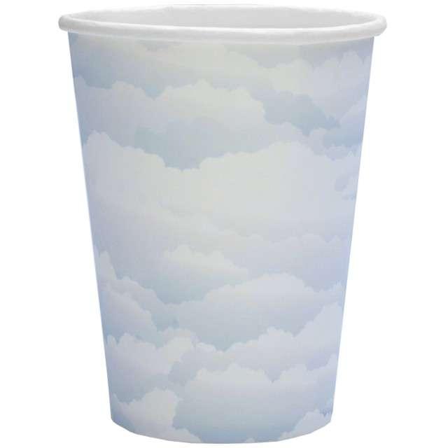 """Kubeczki papierowe """"Niebieskie chmurki"""", Santex, 250 ml, 10 szt"""