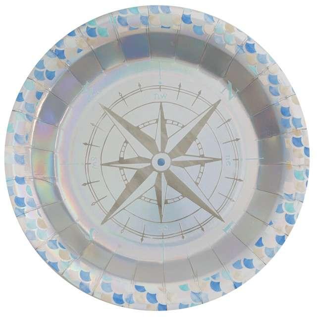 """Talerzyki papierowe """"Morskie powietrze - Sea Air"""", Santex, 22.5 cm, 10 szt"""