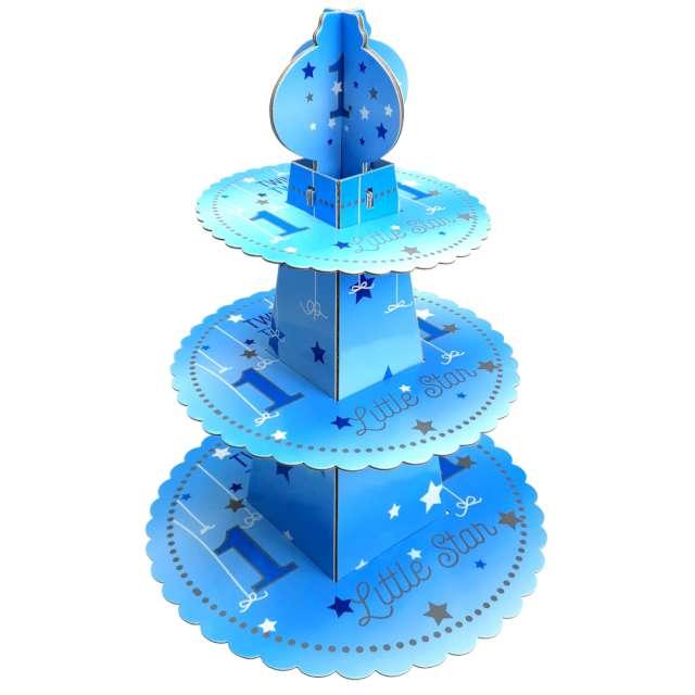 """Patera papierowa """"Twinkle, Twinkle - 1 Urodziny"""", niebieska, JIX"""