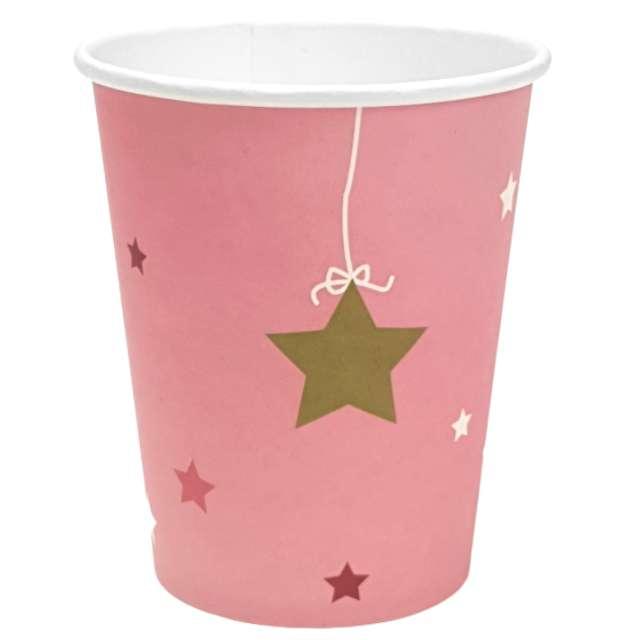 """Kubeczki papierowe """"Gwiazdki"""", różowe, Jix, 6 szt"""