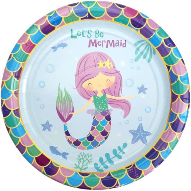 """Talerzyki papierowe """"Syrenka - Lets be mermaid"""", Jix, 17,5 cm, 6 szt"""