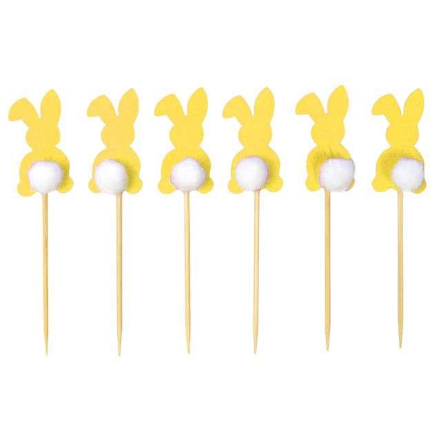 "Pikery ""Króliczki"", żółte, Arpex, 6 szt."