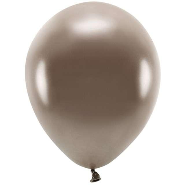 """Balony """"Ekologiczne"""", brązowy metalik, Partydeco, 10"""", 100 szt"""