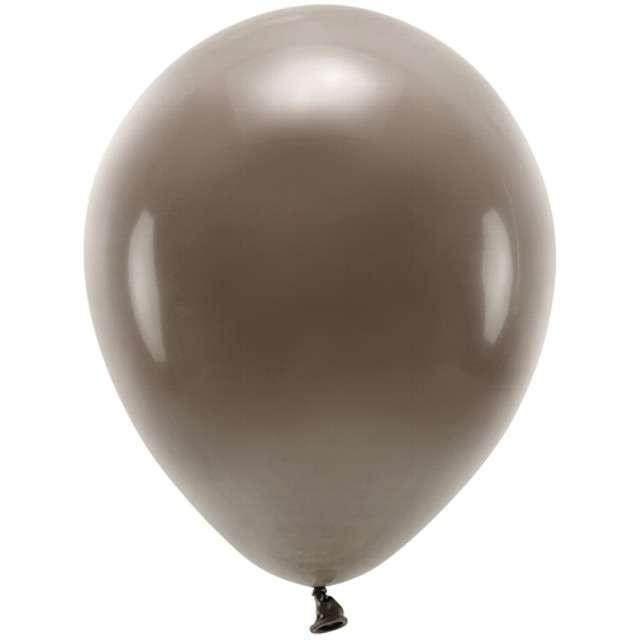 """Balony """"Ekologiczne"""", brązowe, Partydeco, 10"""", 100 szt"""