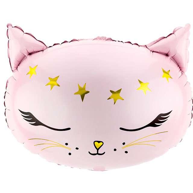 """Balon foliowy """"Kotek"""", różowy, PartyDeco, 19"""" SHP"""