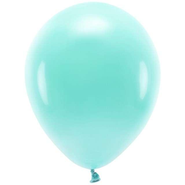 """Balony """"Ekologiczne"""", miętowe ciemne, Partydeco, 10"""", 100 szt"""